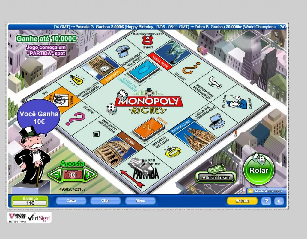 ganhos monopoly