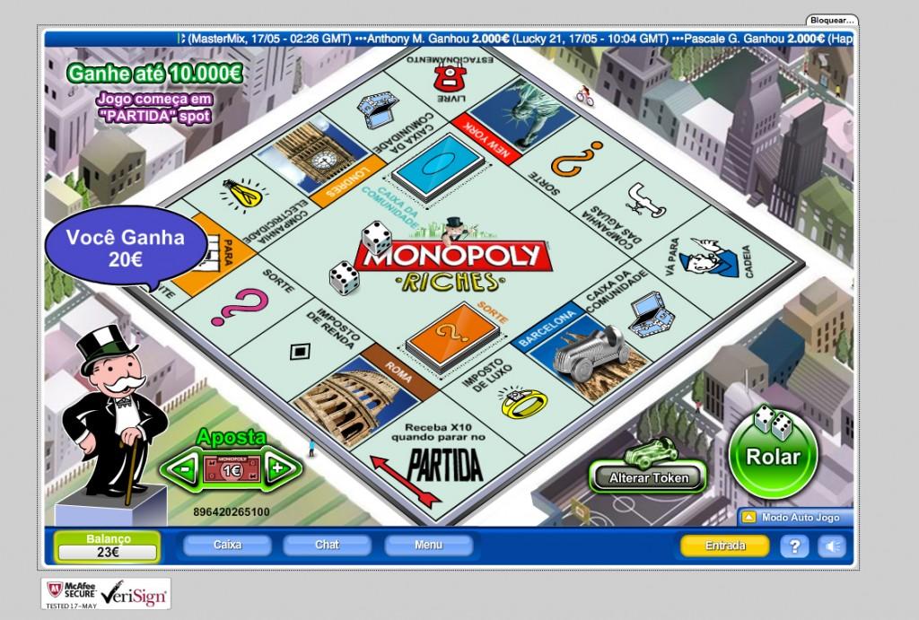 ganhos monopoly online